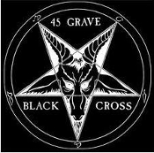 45 GRAVE - BLACK CROSS BACK PATCH