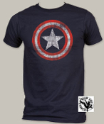 "MARVEL TEE SHIRT - CAPTAIN AMERICA ""DISTRESSED SHIELD"""