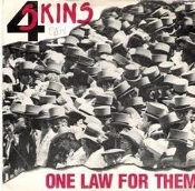 4 SKINS - ONE LAW FOR THEM BACK PATCH
