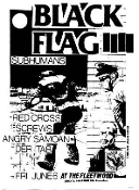 BLACK FLAG - LIVE AT THE FLEETWOOD POSTER