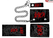SLAYER - BLACK LEATHER WALLET WITH CHAIN