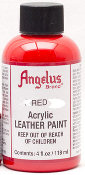 RED ACRYLIC LEATHER PAINT