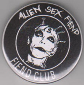 ALIEN SEX FIEND - FIEND CLUB BUTTON / BOTTLE OPENER / KEY CHAIN