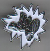 AGNOSTIC FRONT - BOOTS ENAMEL PIN BADGE