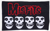 MISFITS - 4 SKULLS PILLOWCASE