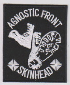 AGNOSTIC FRONT - SKINHEAD PATCH