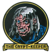 ENAMEL PIN BADGE - TALES FROM THE CRYPT THE CRYPT KEEPER