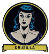 ENAMEL PIN BADGE - TALES FROM THE CRYPT DRUSILLA
