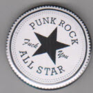BUTTON - PUNK ROCK ALL STAR / BOTTLE OPENER / KEY CHAIN / MAGNET