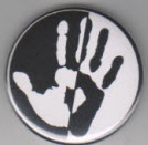 BIG BUTTON - WHITE/BLACK HAND / BOTTLE OPENER / KEY CHAIN / MAGN