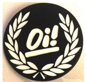 ENAMEL PIN BADGE - OI WITH OLIVE BRANCH ENAMEL PIN BADGE