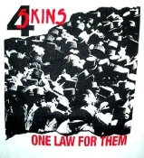 4 SKINS - ONE LAW BUTTON PIN