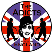 ADICTS - FLAG BUTTON PIN