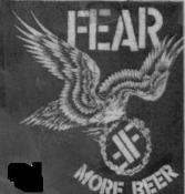 FEAR - MORE BEER PATCH