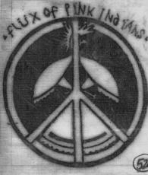 FLUX OF PINK INDIANS - PEACE SIGN LOGO PATCH