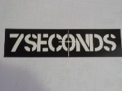 7 SECONDS - 7 SECONDS STICKER