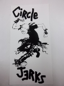 CIRCLE JERKS - SKANK KID (BLACK / WHITE) STICKER
