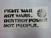 CRASS - FIGHT WAR NOT WARS STICKER