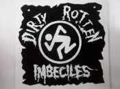 D.R.I - DIRTY ROTTEN IMBECILE + LOGO STICKER