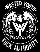 495b20b53 WASTED YOUTH - FUCK AUTHORITY BUTTON PIN