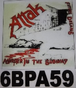 ATTAK - MURDER IN THE SUBWAY BACK PATCH