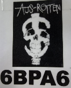 AUS ROTTEN - $ SKULL BACK PATCH
