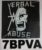 VERBAL ABUSE - LOGO BACK PATCH