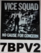 VICE SQUAD - NO CAUSE FOR CONCERN BACK PATCH