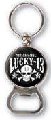 LUCKY 13 - SKULL STARS KEY CHAIN / BOTTLE OPENER