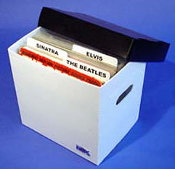 LP RECORD STORAGE BOX PLASTIC CORRUGATED