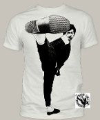 "MOVIE TEE SHIRT - BRUCE LEE ""SIDE KICK"" FULL PRINT"