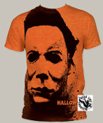 "MOVIE TEE SHIRT - HALLOWEEN ""SPLATTER MASK"" FULL PRINT"