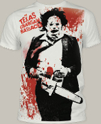 "MOVIE TEE SHIRT - TEXAS CHAINSAW M ""SPATTER"" FULL PRINT"