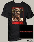 "MOVIE TEE SHIRT - ZOMBIE ""WE ARE GOING TO EAT YOU"""