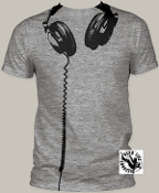 POP CULTURE TEE SHIRT - HEADPHONE FULL PRINT
