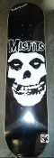 MISFITS - BIG SKULL WITH SMALL MISFITS SKATEBOARD