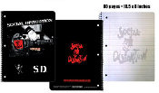SOCIAL DISTORTION - S.D SPIRAL NOTEBOOK