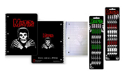 MISFITS - CROSS ARM SPIRAL NOTEBOOK + PENCILS (BUNDLE)