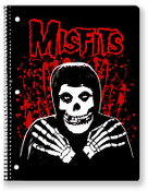 MISFITS - SPLATTER SPIRAL NOTEBOOK