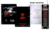 SOCIAL DISTORTION - S.D SPIRAL NOTEBOOK + PENCILS (BUNDLE)