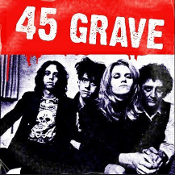 45 GRAVE - BAND PICTURE BUTTON PIN
