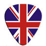 GUITAR PICKS - UK FLAG (PACK OF 12)