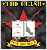 CLASH - KNOW YOUR RIGHT (COLOR) STICKER