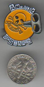 ANGELIC UPSTARTS - TEENAGE WARNING ENAMEL PIN BADGE