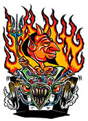 VON FRANCO STICKER - HOT ROD DEVIL