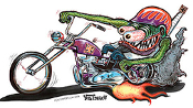 VON FRANCO STICKER - MONSTER BIKER