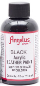 BLACK ACRYLIC LEATHER PAINT