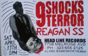 HEADLINE FLYER - 9 SHOCKS TERROR / REAGAN SS (COLOR)