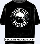 TEE SHIRT - HEADLINE RECORDS: SKULL (BLACK SHIRT)