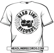 TEE SHIRT - HEADLINE RECORDS: SKULL (WHITE SHIRT)